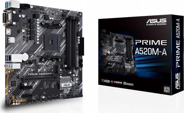 Płyta główna A520M-A AM4 4XDDR4 M.2 DVI/DSUB/HDMIB uATX