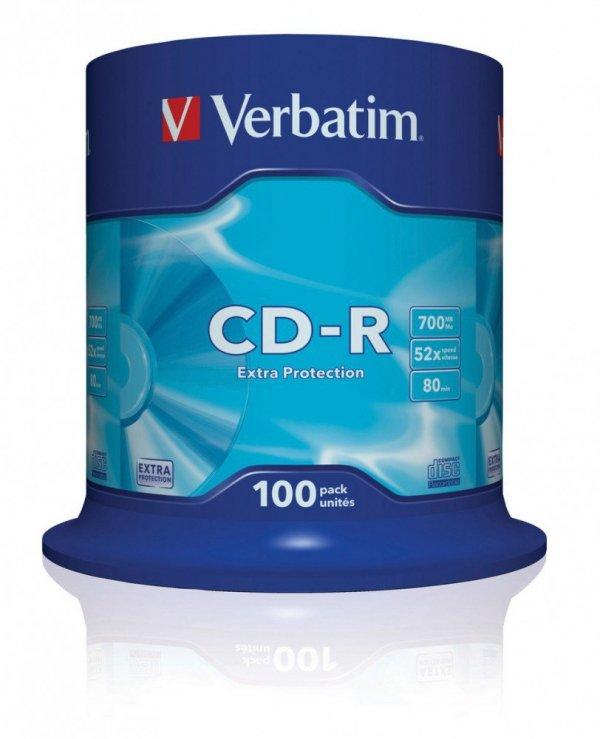 CD-R 52x 700MB 100P CB DL Ex Prot 43411