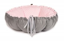 DAISY double-sided bed gray - pink minky