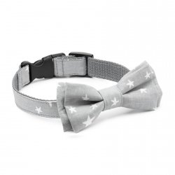 Bow tie CLASSIC gray - star pattern