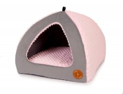 Dog House BELLA pink minky