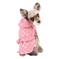 Waterproof dog jacket THRODORA pink
