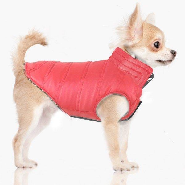 dwustronna, puchowa, zimowa kurtka dla psa od Milk&Pepper