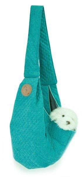 Sportowa torba nosidło SARA turkusowa pikowana