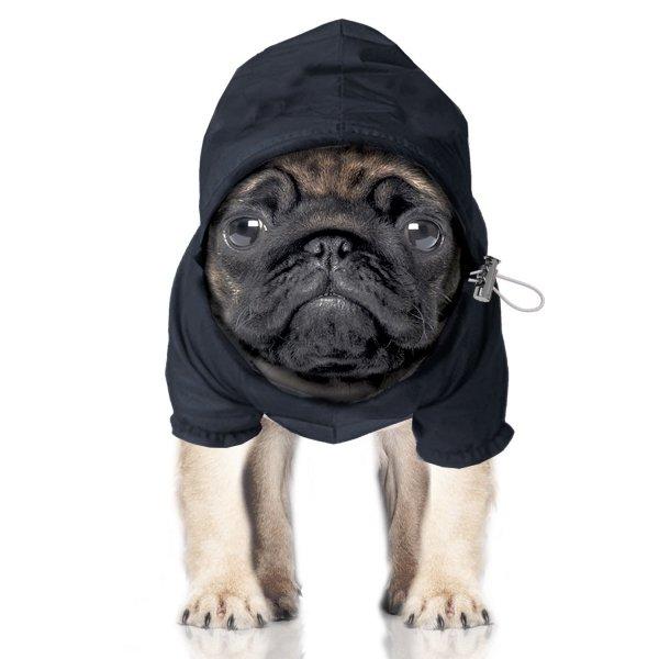 kurtka przeciwdeszczowa, granatowa dla psa od Milk & Pepper