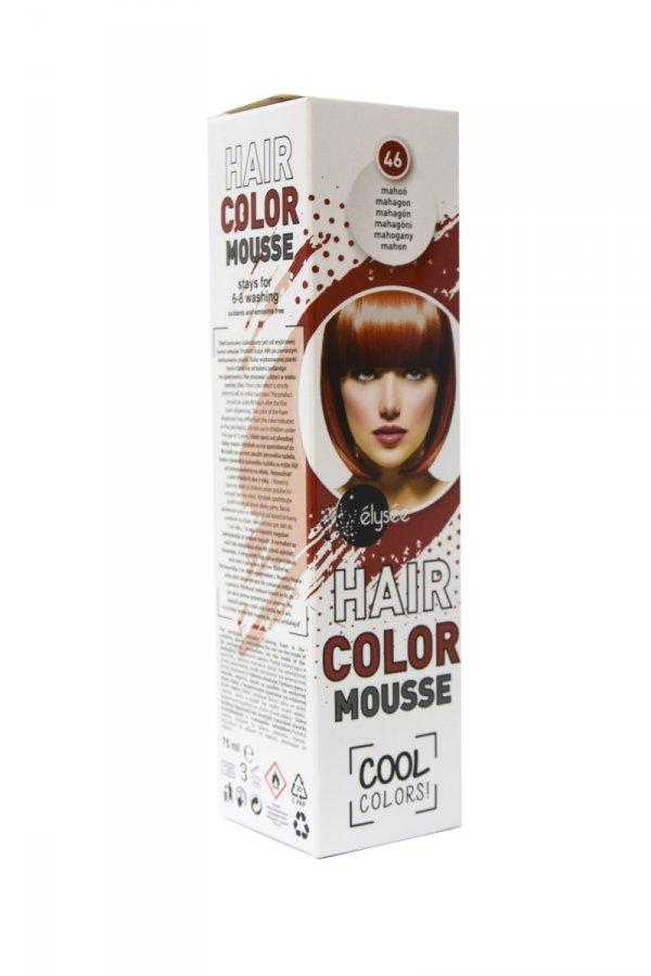 Elysee koloryzująca pianka do włosów. Kolor mahoń. Nr 46.