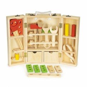 Drewniane narzędzia w skrzynce warsztat zestaw XXL
