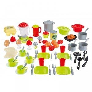 Ecoiffier Zestaw Obiadowy 70 akcesoriów