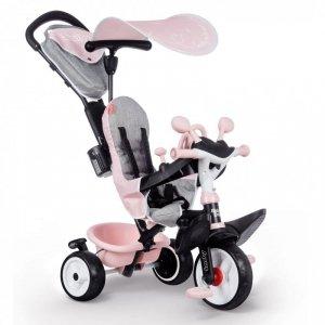 SMOBY Rowerek trójkołowy Baby Driver Komfort plus Różowy