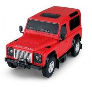Land Rover Defender 1:24 RTR (zasilanie na baterie AA) - Czerwony