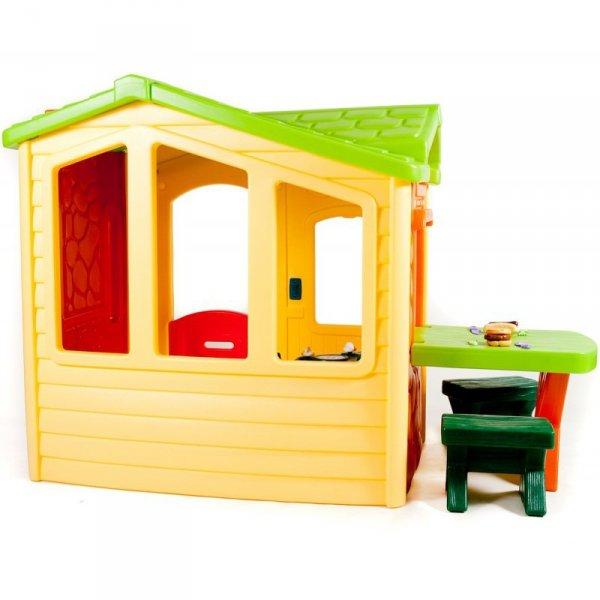 Little Tikes Domek Piknikowy z Patio i magicznym dzwonkiem - naturalny