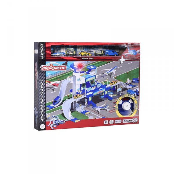MAJORETTE Creatix Lotnisko 3 poziomy + 5 Pojazdów