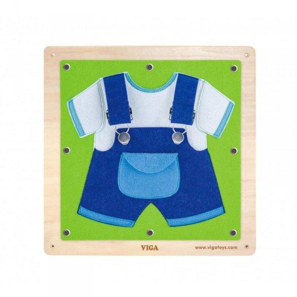 Viga Drewniane Tablice Sensoryczne Ubrania i zapięcia