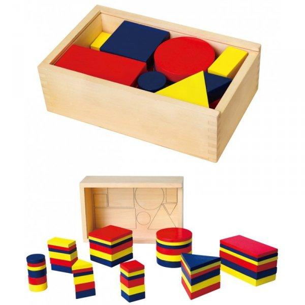 Drewniane Klocki logiczne Figury geometryczne Viga Toys