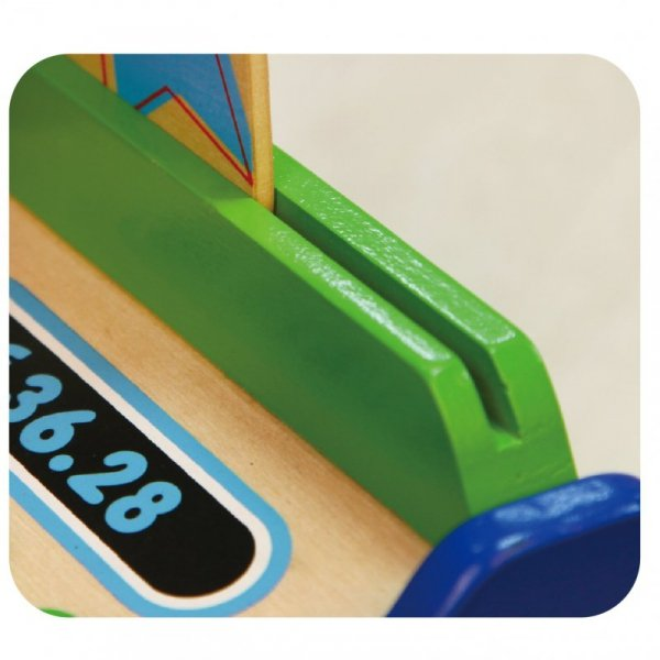 Drewniana Kasa sklepowa z akcesoriami Skaner Viga Toys