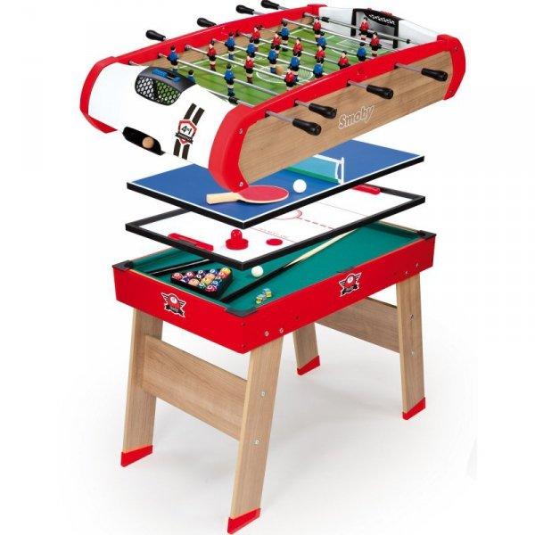 SMOBY Stół Powerplay 4w1 Piłkarzyki Bilard Tenis Hokej