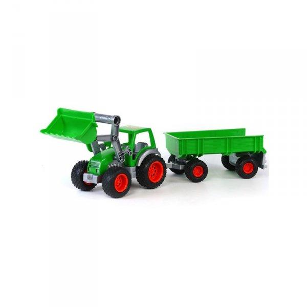 Wader QT Traktor Gigant z Przyczepą Turem Gumowe Koła