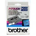 Brother oryginalna taśma do drukarek etykiet. Brother. TX-551. czarny druk/niebieski podkład. laminowane. 8m. 24mm TX551