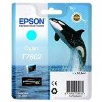 Epson oryginalny wkład atramentowy / tusz C13T76024010. T7602. cyan. 25.9ml. 1szt. Epson SureColor SC-P600 C13T76024010