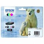 Epson oryginalny wkład atramentowy / tusz C13T26164010. T261640. CMYK. 3x4.5/6.2ml. Epson Expression Premium XP-800. XP-700. XP-600 C13T26164010