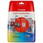 Canon oryginalny zestaw wkładów atramentowych/tuszów PG-540XL+CL-541XL + papier foto PG-540XL+CL-541XL. black/color. 5222B013. Canon MG2150.2250.3150.3250 5222B013