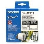 Brother rolka folii 62mm x 15.24m. biała. 1 szt.. DK22212. do drukowania etykiet DK22212