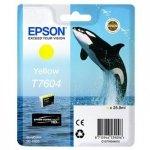 Epson oryginalny wkład atramentowy / tusz C13T76044010. T7604. yellow. 25.9ml. 1szt. Epson SureColor SC-P600 C13T76044010