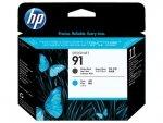 HP oryginalna głowica drukująca C9460A. No.91. matte black/cyan. HP DesignJet Z6100
