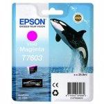 Epson oryginalny wkład atramentowy / tusz C13T76034010. T7603. vivid magenta. 25.9ml. 1szt. Epson SureColor SC-P600 C13T76034010