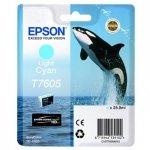 Epson oryginalny wkład atramentowy / tusz C13T76054010. T7605. light cyan. 25.9ml. 1szt. Epson SureColor SC-P600 C13T76054010