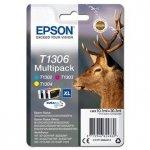 Epson oryginalny wkład atramentowy / tusz C13T13064012, T1306, cyan/magenta/yellow, 30,3ml, Epson Stylus Office BX320FW C13T13064012