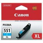 Canon oryginalny wkład atramentowy / tusz CLI551C XL. cyan. 11ml. 6444B001. high capacity. Canon PIXMA iP7250. MG5450. MG6350 6444B001