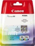 Canon oryginalny wkład atramentowy / tusz CLI36 Twin. color. 1511B018. Canon Pixma Mini 260 1511B018