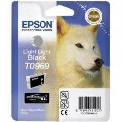 Epson oryginalny wkład atramentowy / tusz C13T09694010. light light black. 13ml. Epson Stylus Photo R2880 C13T09694010