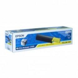 Epson oryginalny toner C13S050187. yellow. 4000s. high capacity. Epson AcuLaser C1100. 1100N. CX11N. 11NF. 11NFC