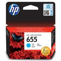 HP oryginalny wkład atramentowy / tusz CZ110AE#BHK. No.655. cyan. 600s. HP Deskjet tusz Advantage 3525. 5525. 6525. 4615 e-AiO