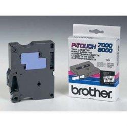 Brother oryginalna taśma do drukarek etykiet. Brother. TX-131. czarny druk/przezroczysty podkład. laminowane. 8m. 12mm
