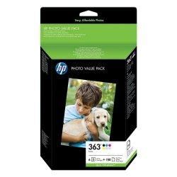 HP oryginalny wkład atramentowy / tusz Q7966EE#241. No.363. color. 150s. blistr. HP Set 6 kazet No.363 + Paper 10 x 15 cm. 150 list…. Promo pack Q7966EE#301