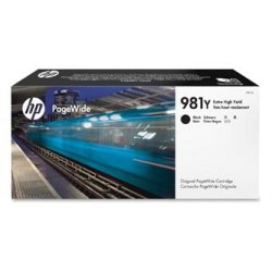 HP oryginalny wkład atramentowy / tusz L0R16A. No.981Y. black. extra duża pojemność. HP PageWide MFP E58650. 556. Flow 586 L0R16A
