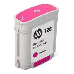 HP oryginalny wkład atramentowy / tusz F9J62A. No.728. magenta. 40ml. HP DesignJet T730. DesignJet T830. DesignJet T830 MFP F9J62A