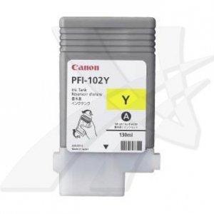 Canon oryginalny wkład atramentowy / tusz PFI102Y. yellow. 130ml. 0898B001. ploter iPF-500. 600. 700 0898B001