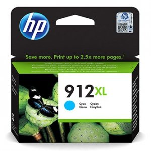 HP oryginalny ink 3YL81AE, HP 912XL, cyan, 825s, high capacity, HP Officejet 8012, 8013, 8014, 8015 Officejet Pro 802 3YL81AE