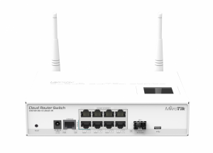 Cloud Router Switch CRS109-8G-1S-2HND-IN 600MHZ, 128MB, 8XGE, 1XSFP, 1XSERIAL -RJ45, L5 MT CRS109-8G-1S-2HND-IN