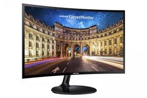 SAMSUNG Monitor C24F390FH/24''LED 1920X1080 DVI HAS black LC24F390FHUXEN