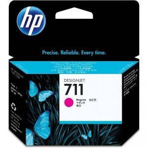 HP 711 Magenta 3x29ml. oryginalny wkład atramentowy / tusz do plotera Designjet T120/T520 purpurowy. trójpak CZ135A