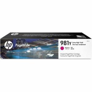HP oryginalny wkład atramentowy / tusz L0R14A. No.981Y. magenta. extra duża pojemność. HP PageWide MFP E58650. 556. Flow 586 L0R14A