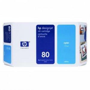 HP oryginalny wkład atramentowy / tusz C4846A. No.80. cyan. 350ml. HP DesignJet 1050. C. 1055. C. CM C4846A