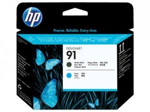 HP oryginalna głowica drukująca C9460A. No.91. matte black/cyan. HP DesignJet Z6100 C9460A