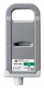 Canon oryginalny wkład atramentowy / tusz PFI706G. green. 700ml. 6688B001. ploter iPF-8300 6688B001