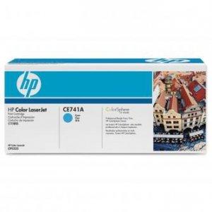 HP oryginalny toner CE741A. cyan. 7300s. HP Color LaserJet CP5225 CE741A